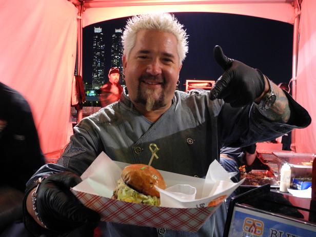 Photo of Burger Bash 2013 Winners: Guy Fieri and Josh Capon