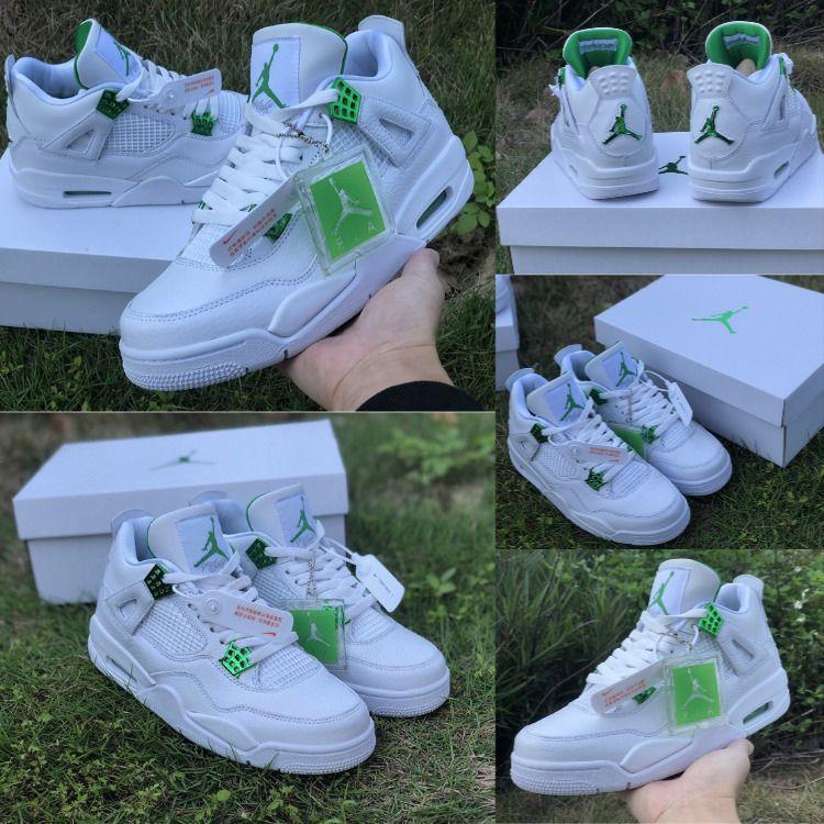 Jordan 4 Retro Metallic Green Aj4 Metallic Pack In 2020 Jordan