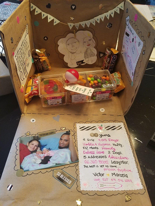 11 year anniversary surprise box for my hubby diy