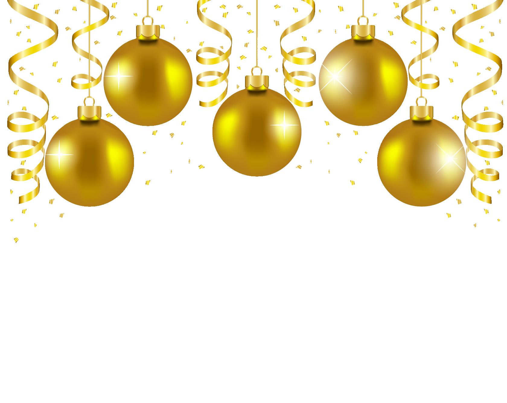 Transparent Gold Christmas Balls Decor Png Picture Gold Christmas Christmas Balls Decor