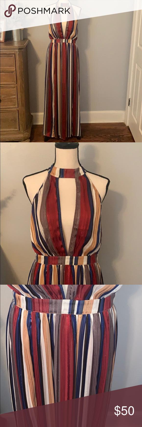 Nwt Striped Maxi Dress Striped Maxi Dresses Striped Maxi Maxi Dress [ 1740 x 580 Pixel ]