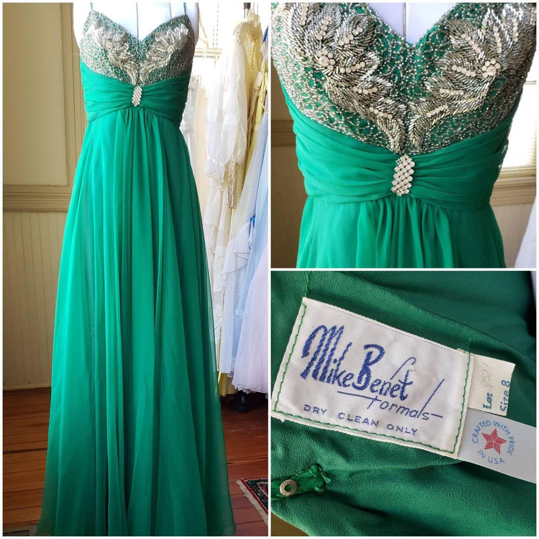 Vintage Prom Dress Sale Deadstock Mike Benet 70s Prom Etsy Prom Dresses Vintage Mint Green Prom Dress Dresses [ 1448 x 1448 Pixel ]