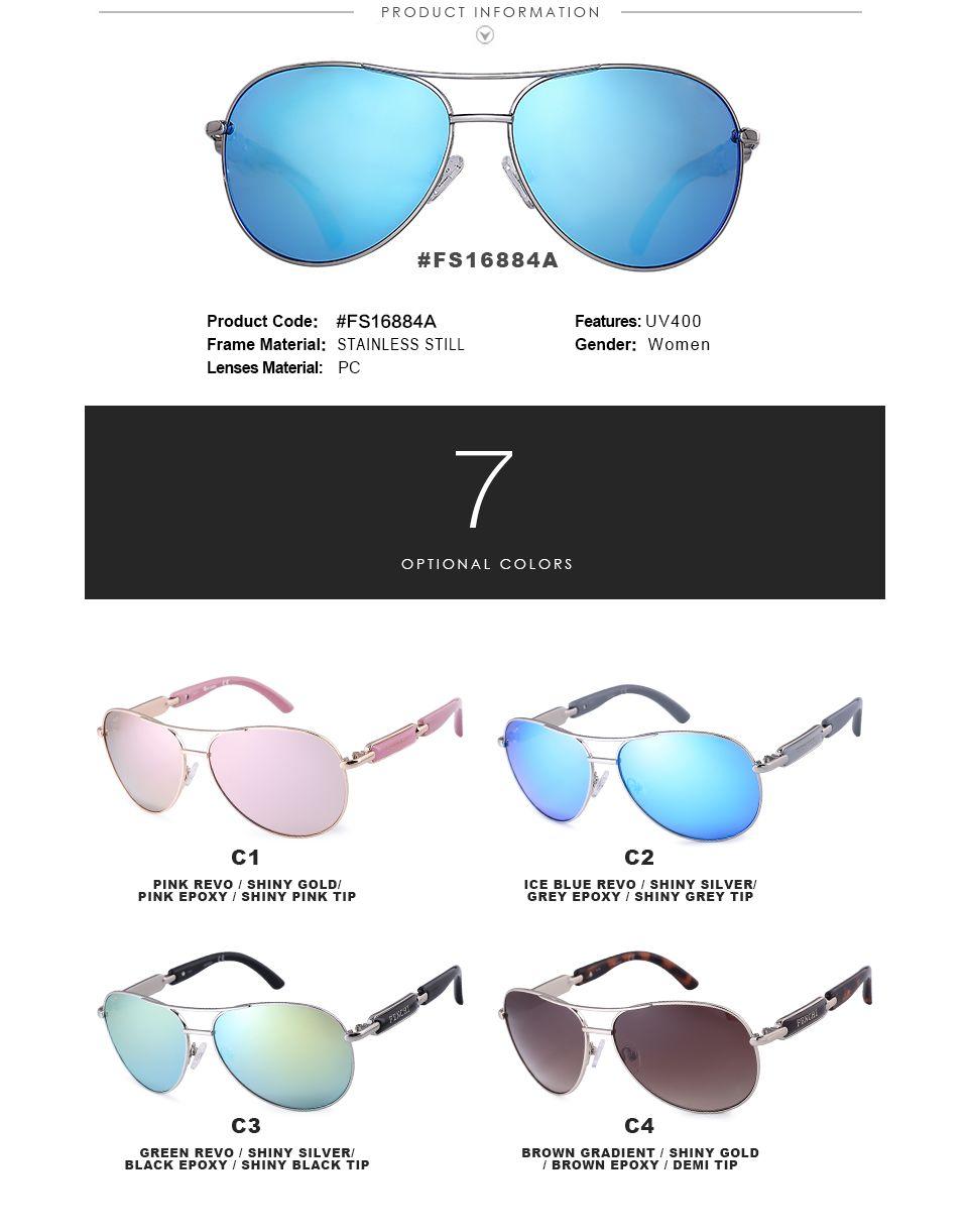 f420b1235b  25.3 - Cool Fenchi 2017 sunglasses women metal hot rays glasses driver  pilot mirror fashion men