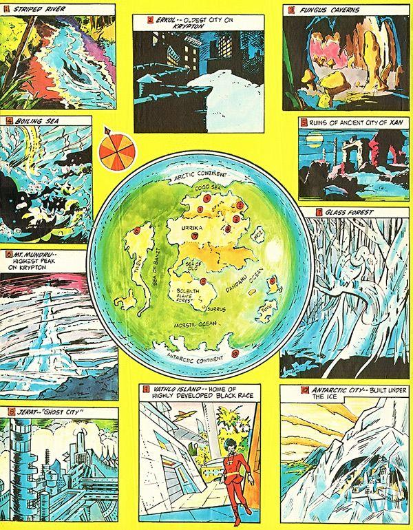 Map of PreCrisis Krypton  DC Comics  Superman  Fictional