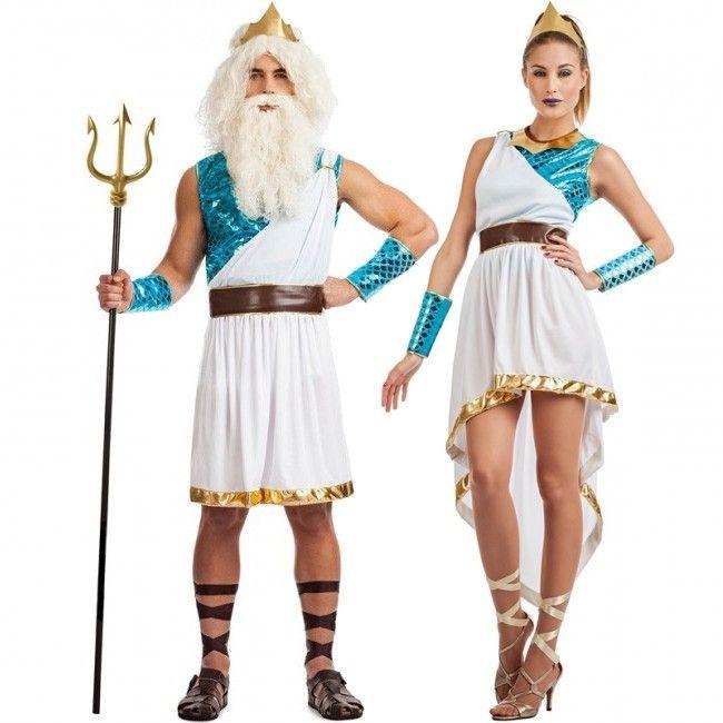 fa2abad36 Pareja Dioses del Mar en 2019   DISFRACES   Disfraces para adultos ...