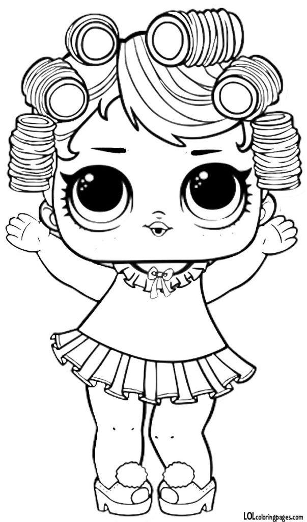 Раскраски LOL и чёрно-белые картинки с куклами ЛОЛ ...