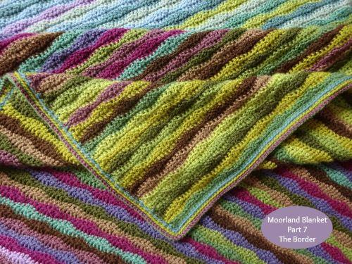 Moorland Blanket Edging Striped Blankets Blanket Attic 24 Crochet