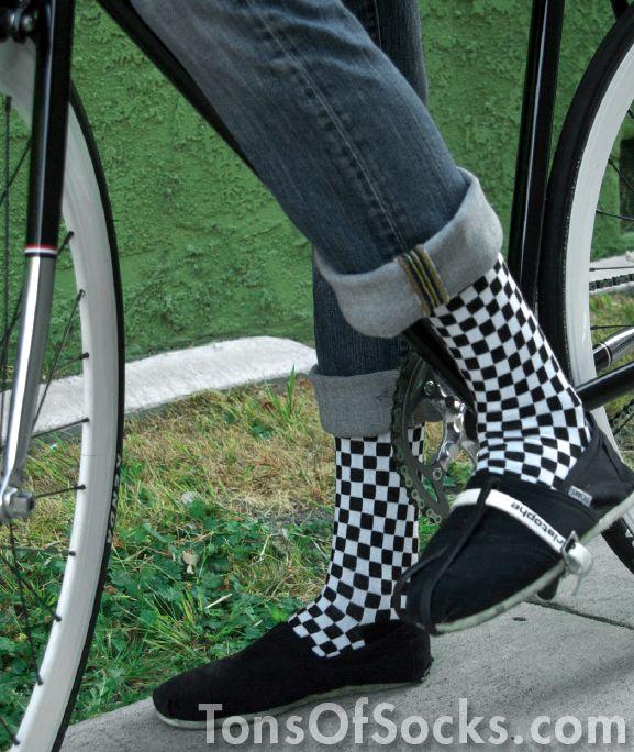 5d2b53ce5e44 Men s Checkered Socks (Black   White)