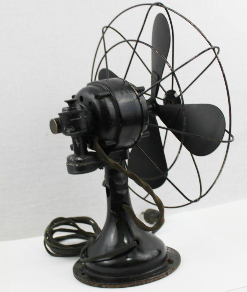 Antique 1930s Westinghouse 10 Oscillating Desk Fan Table Vintage