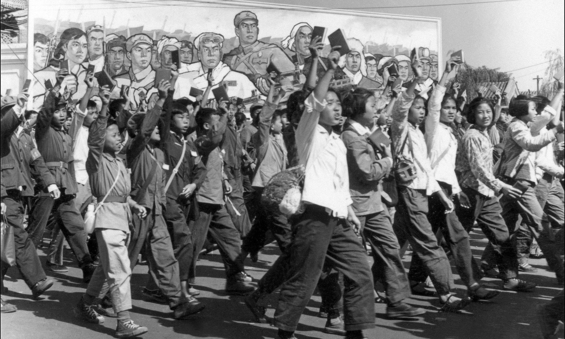 History: Periods of Time: Parade of people who joined the Red Guards. The Red Guards were a group of young people who were formed by the first leader of the People's Republic of China, Mao Zedong. They purged the people in China deemed untrustworthy, leading to a chaotic period known as the Cultural Revolution.