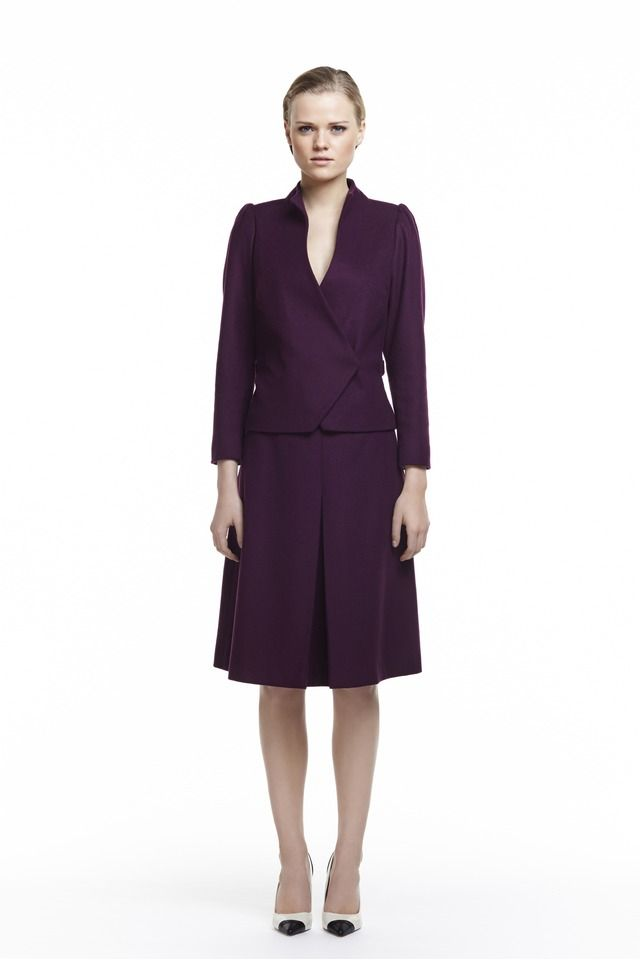 Plakinger FW14 clothing jackets-and-vests burgundy Wool and cashmere jacket