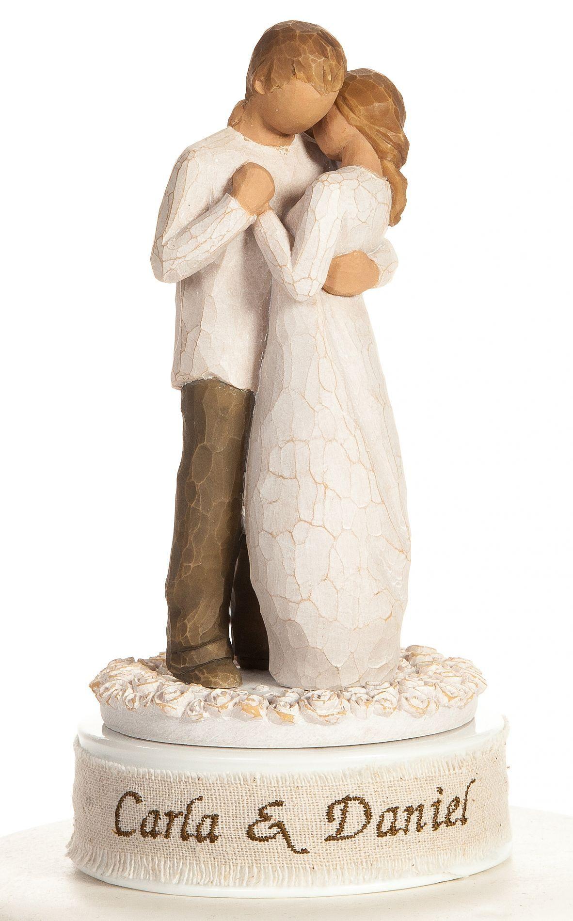 Bomboniere Matrimonio Willow Tree.Personalized Embroidery Willow Tree Promise Wedding Cake