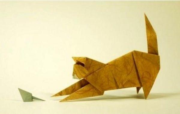Photo of Origami cat and mouse … – blog de papel de bricolaje