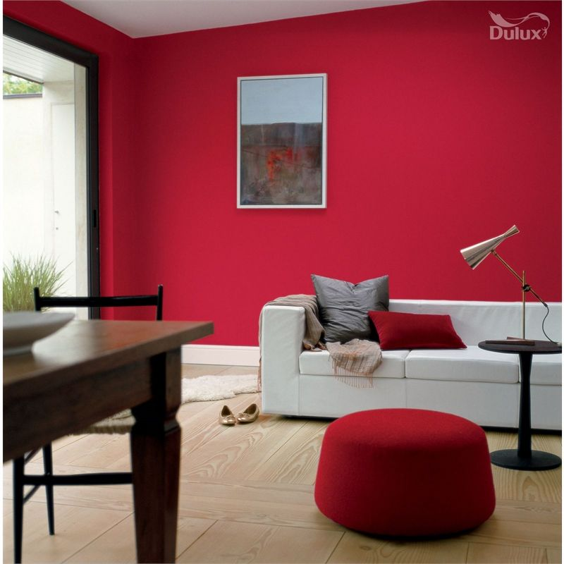 Roasted Red Pepper Paint Accent Wall: Dulux Once Roasted Red