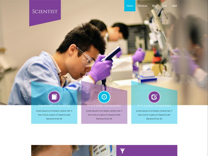Scientist Is Free Responsive Medical Bootstrap Template Can Be