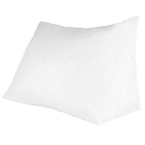 Enjoy Reading In Bed With This Remedy Reading Wedge Pillow This Mesmerizing Therapedic Reading Wedge Pillow With Knit Cover In White