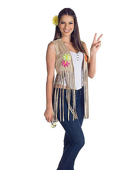Adult Fringe Hippie Vest - Spirithalloween.com  sc 1 st  Pinterest & Adult Fringe Hippie Vest - Spirithalloween.com | Pinup Possibilities ...
