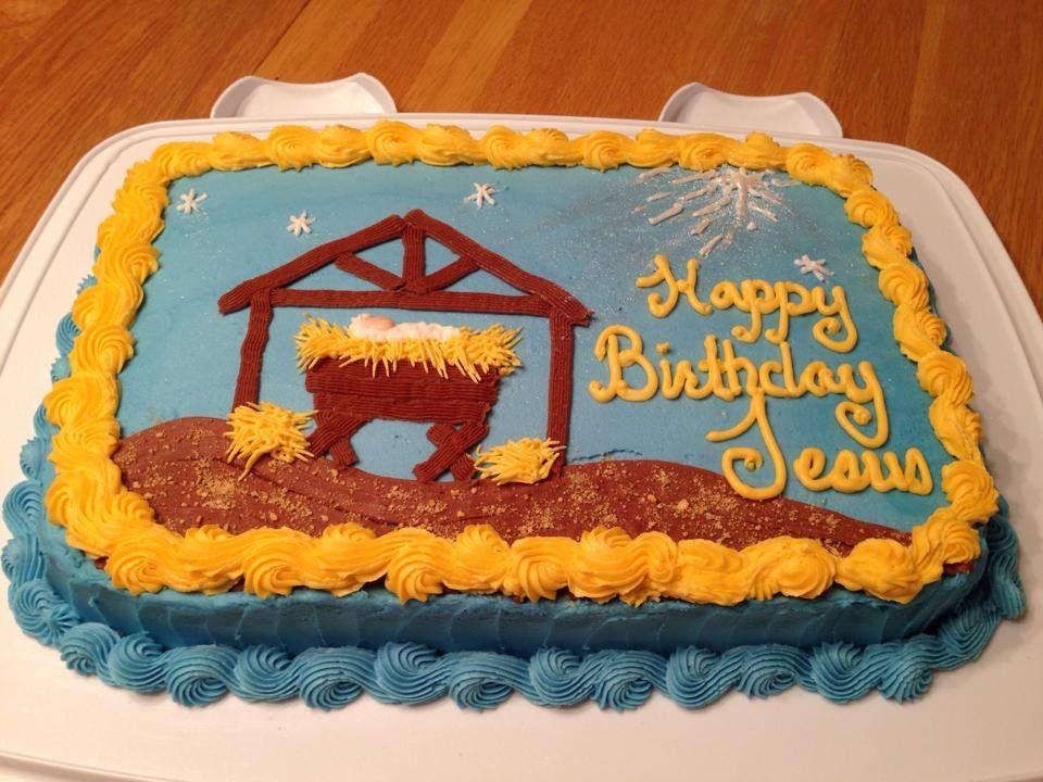 Baby jesus manger cake happy birthday jesus cake happy