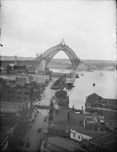 Sydney Harbour Bridge Construction 1930 S Australia Australia