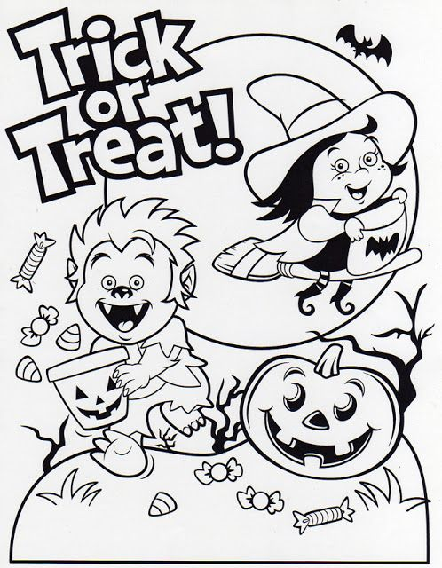 Best Trick Or Treat Bag Coloring Sheets To Print Halloween Coloring Sheets Halloween Coloring Pages Coloring Pages