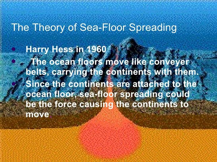 The Theory Of Sea Floor Spreading Ulliharry Hess In 1960 Li