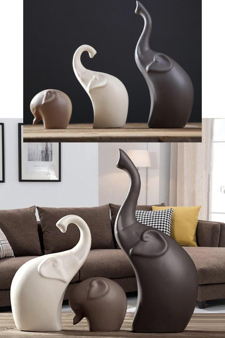 Elephant Sculpture Animal Decor Elephant Decor Living Room