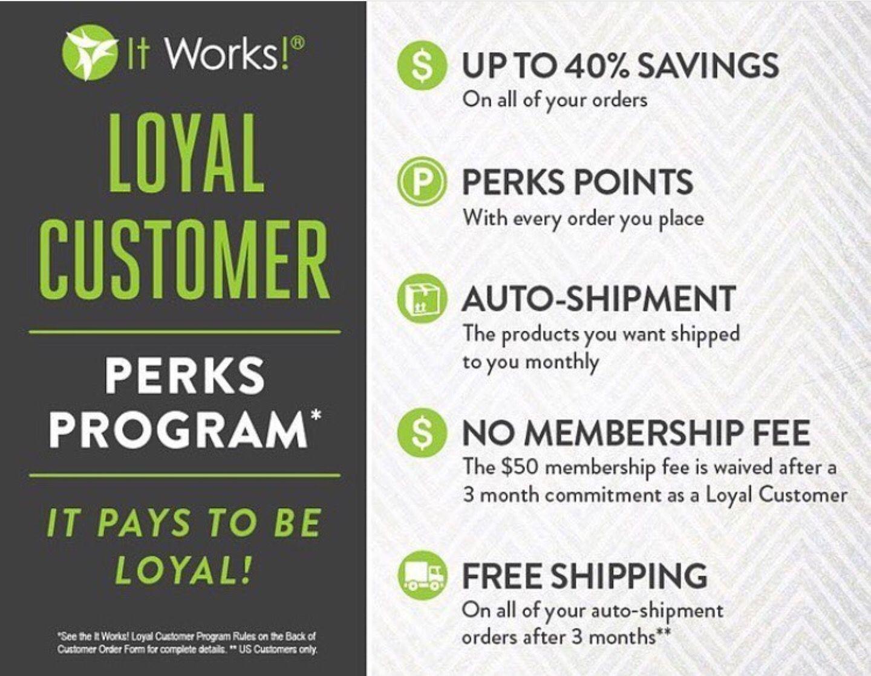 My it works loyal customer login