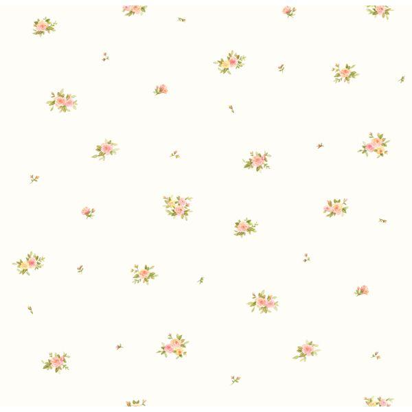 GIR93004 White Rosebud Spot Wallpaper - Girls Rule by Chesapeake