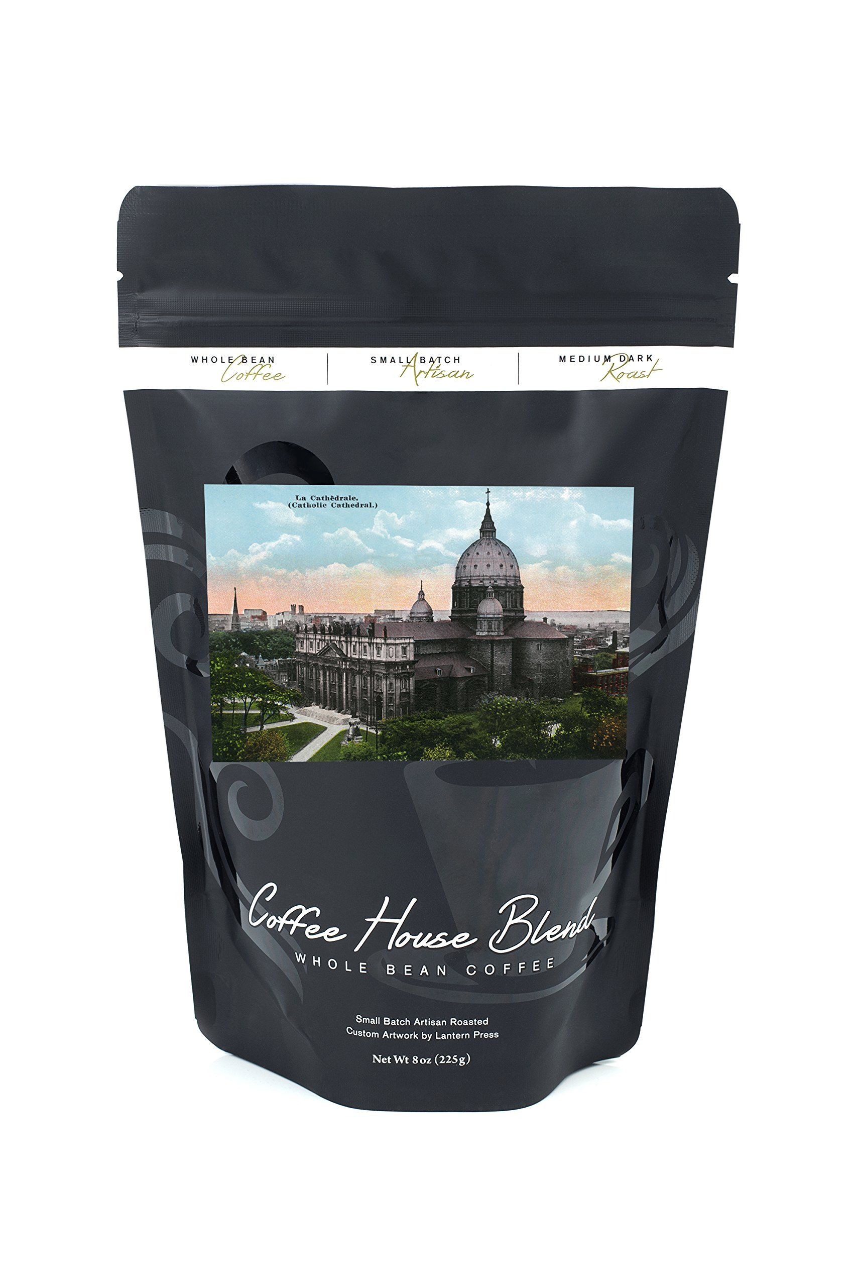 Montreal Quebec Catholic Cathedral Exterior 8oz Whole Bean Small Batch Artisan Coffee Bold And Strong Medium Dark Roast W Artwork Coffee Beans Beans Coffee