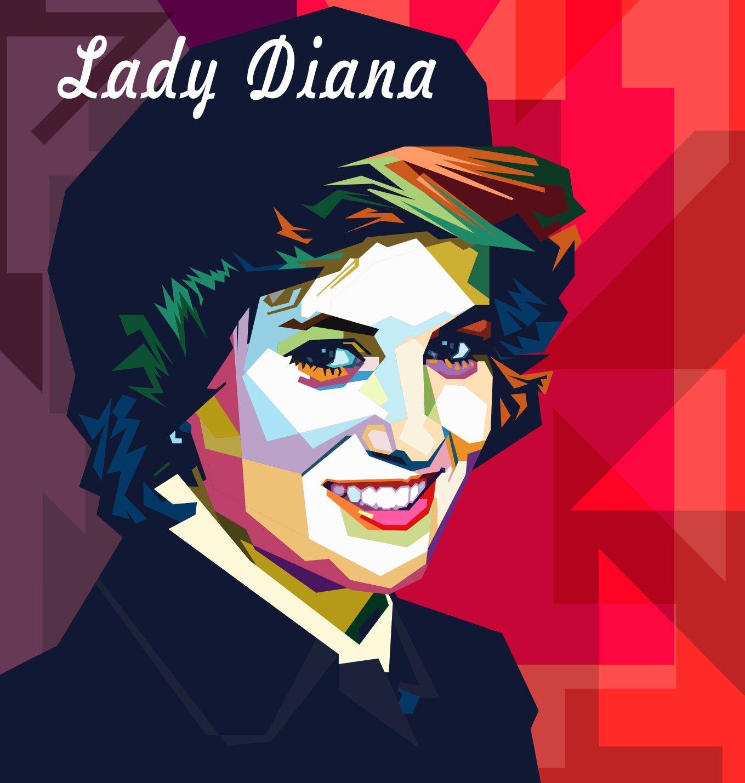 Wpap In Style Pop Art Portraits Lady Diana Op Art