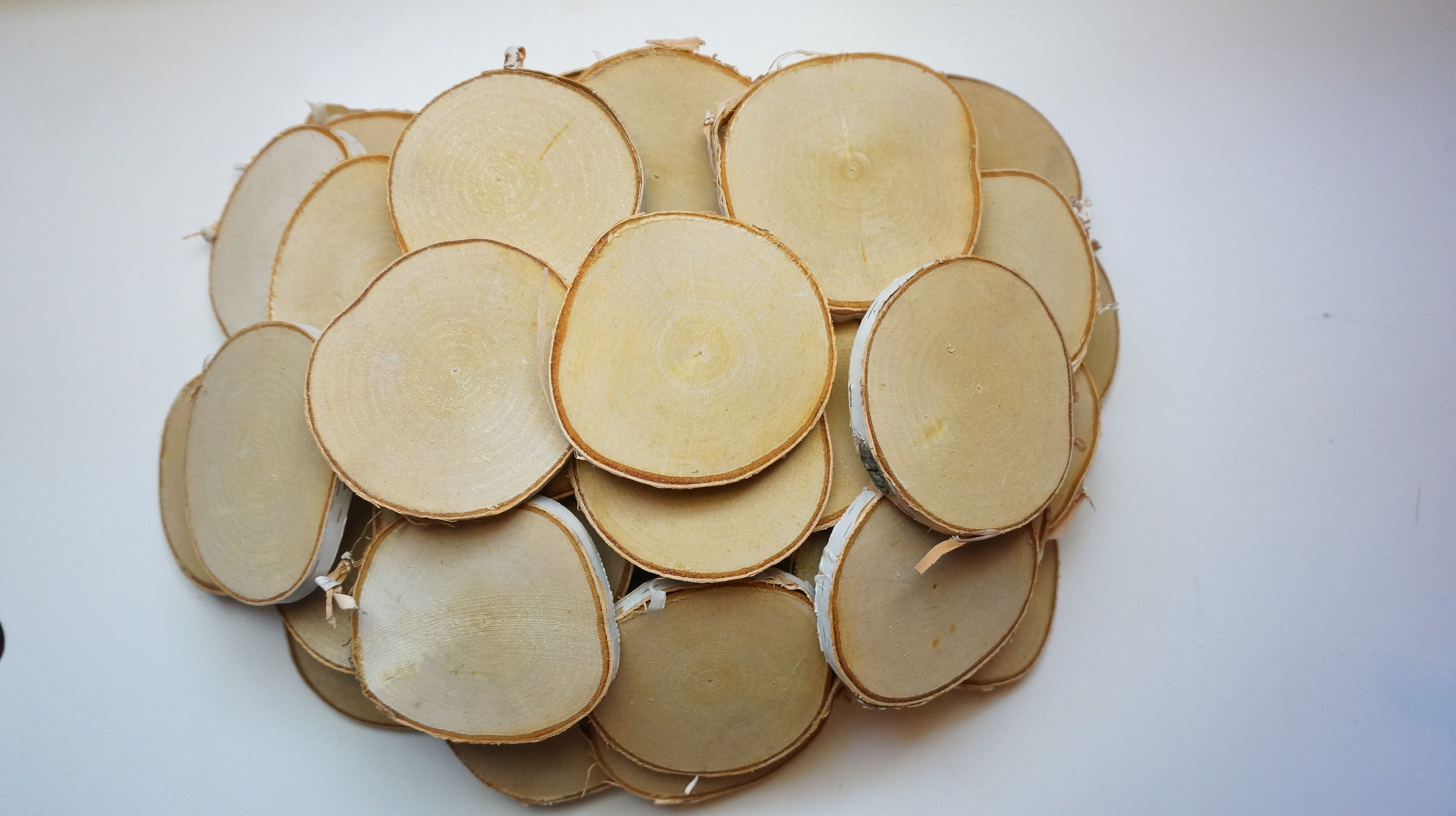 40 Birch Tree Slices 3 1 4 3 3 4 Inch Wooden Wedding Favors Ornament Blanks Log Slabs Pyrography Supp What Sells On Etsy Wedding Favors Mint Wedding Favors