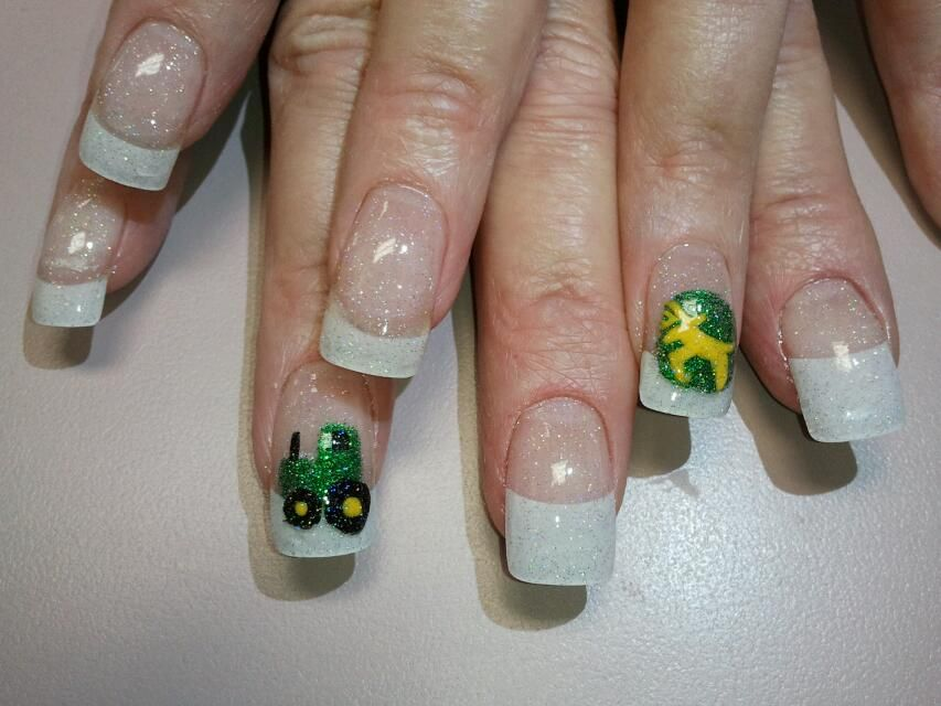 John Deere Nails | uñas | Pinterest