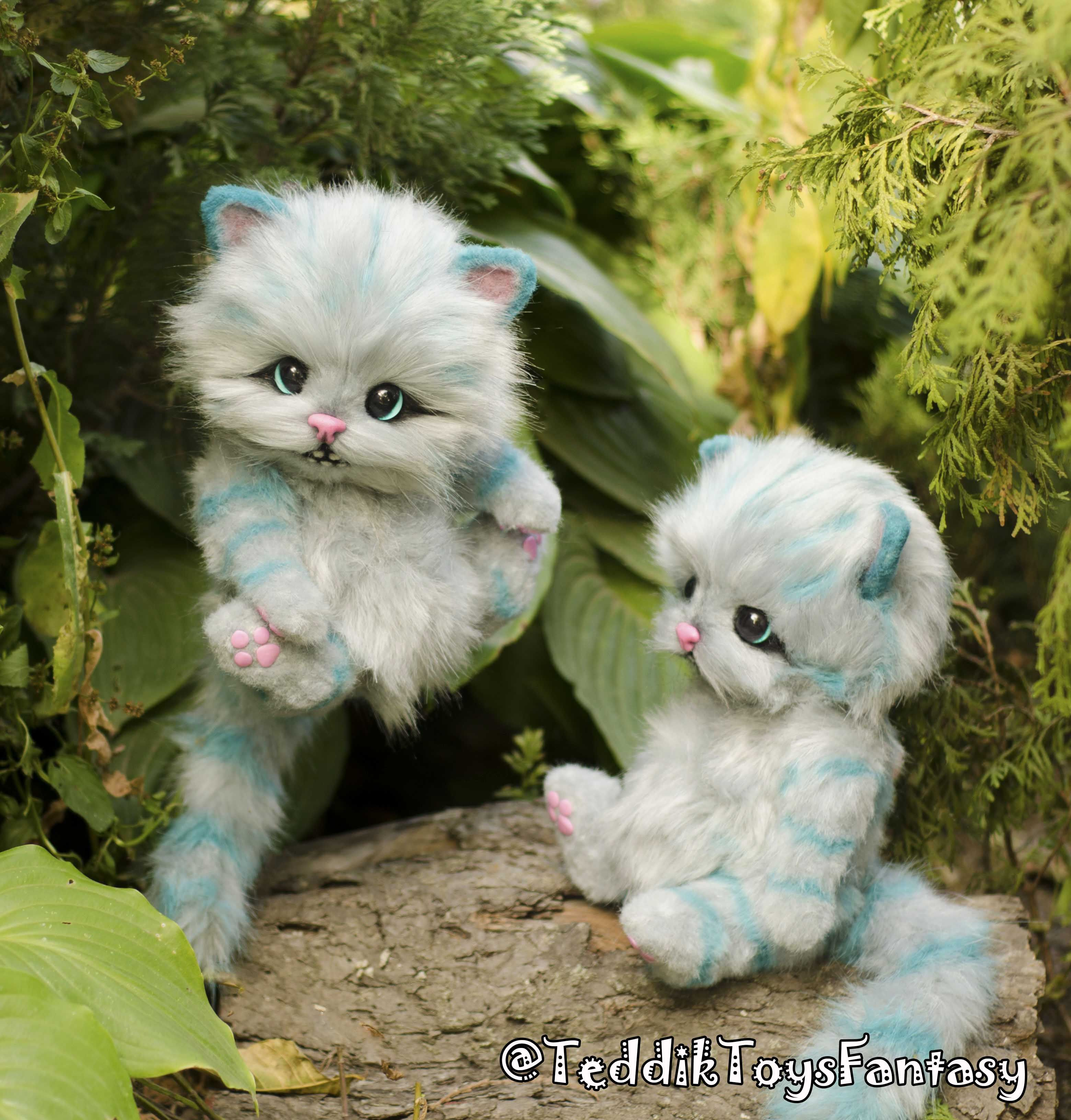 Cheshire Kitten Made To Order Etsy In 2020 Cute Fantasy Creatures Kitten Kittens Cutest