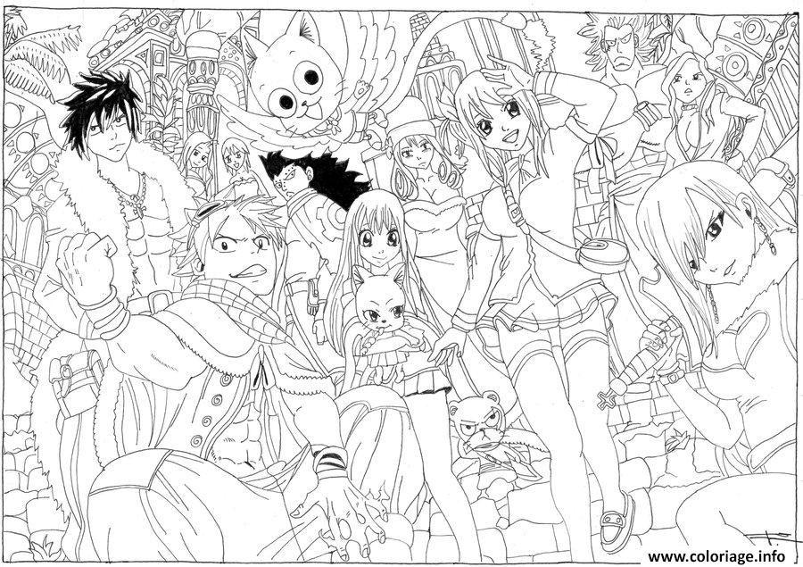 Coloriage Dessin De Fairy Tail By Seky01 D4ubf1a Dessin A Imprimer