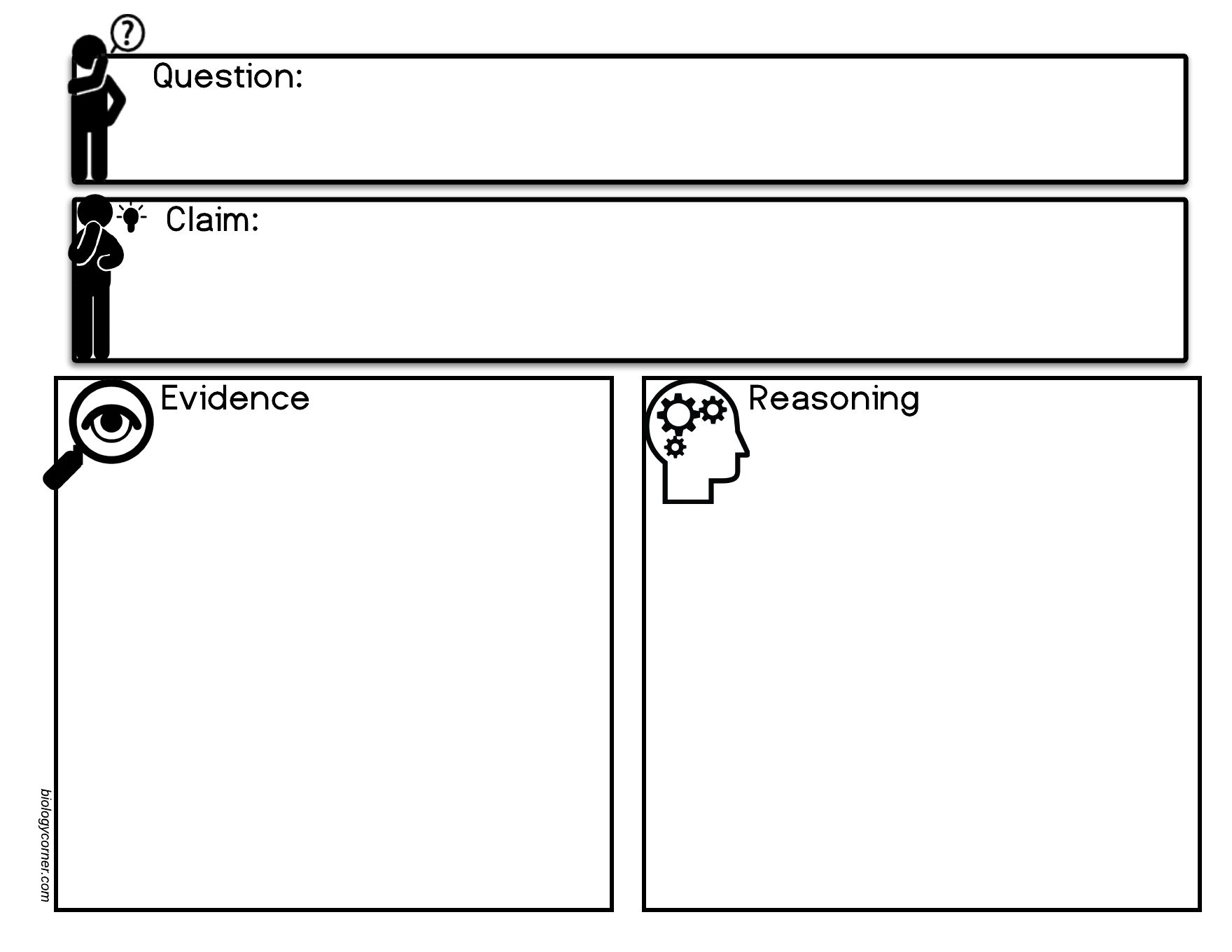 The Claim Evidence Reasoning Worksheets Design Is A Very