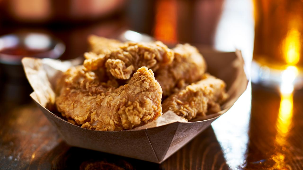 Guy Fieri S Brined Fried Chicken Tenders Are Crunch Tastic Recipe In 2020 Fried Chicken Tenders Fried Chicken Food Network Recipes