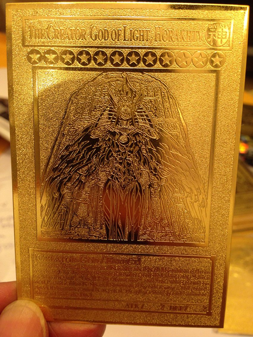 Details about yugioh the creator god of light horakhty