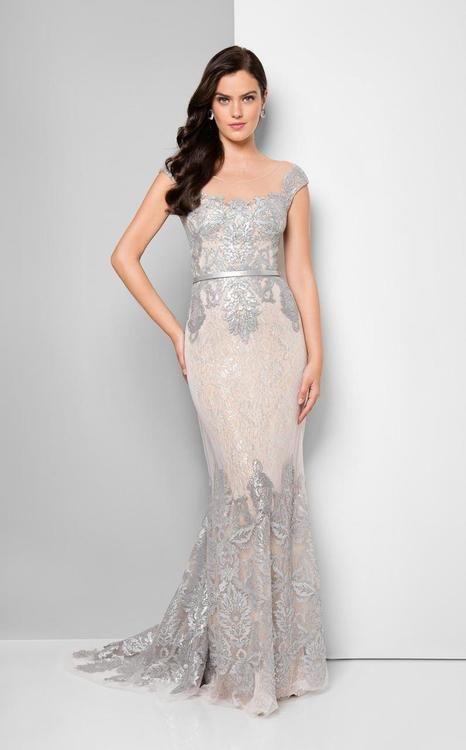 Terani Couture - Bedazzled Portrait Mermaid Dress 1713M3505   Terani ...