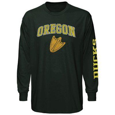 55cc9004903183 Oregon Ducks Big Arch & Logo Long Sleeve T-Shirt - Green $20 ...