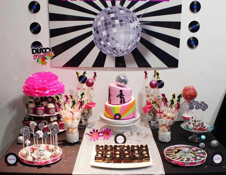 Disco birthday disco party fiesta de los 60 - Ideas para discotecas ...