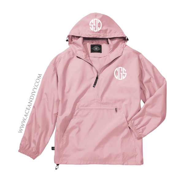 Monogrammed Unlined Pullover Rain Jacket | Rain jacket, Monograms ...
