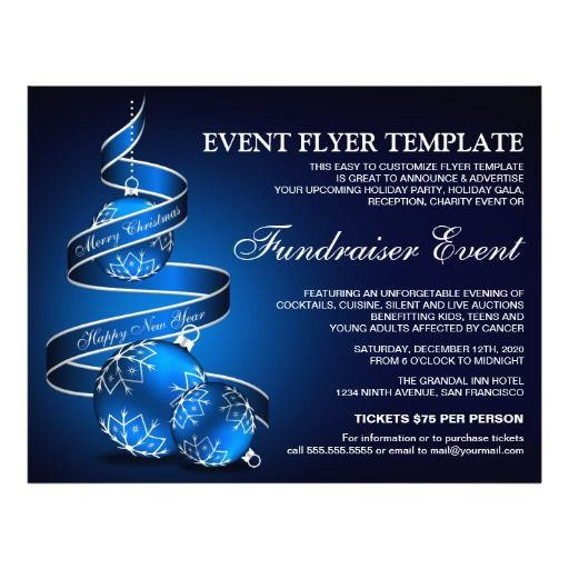 Holiday Fundraiser Event Flyer Template  Event Flyer Templates