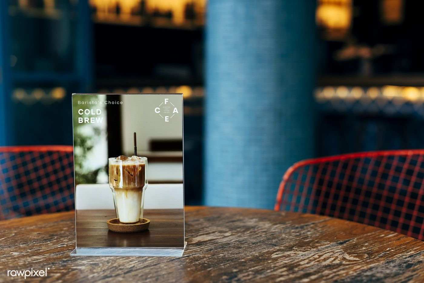 Mockup of a restaurant table sign board  free image by rawpixel