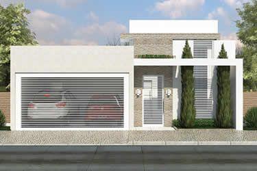 Planta de casa t rrea com suite e closet decora o for Casa moderna 7x20