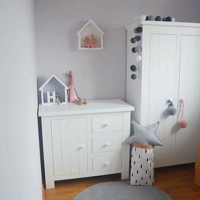 Wooden Nursery Wardrobe From Marbella Range Available In White Or Warm Cream Funique Furniture