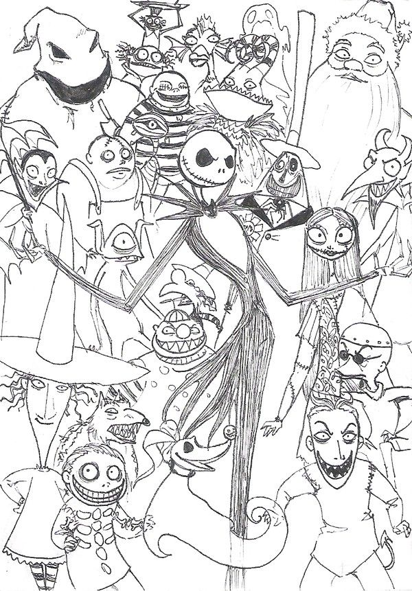 Nightmare Before Christmas Coloring Pages For Adults : nightmare, before, christmas, coloring, pages, adults, Nightmare, Before, Christmas, Coloring, Pages, Skellington, Inspirational, Ex…, Pages,, Books,, Halloween