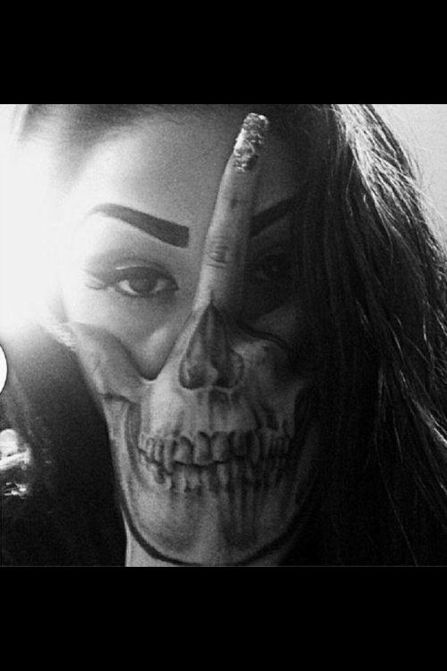 Skull Drama Face Tattoo: Pin On Inktastic