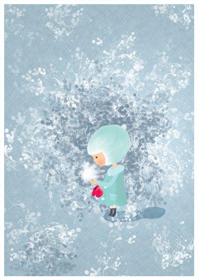 Le bonheur c'est comme un flocon de neige ...