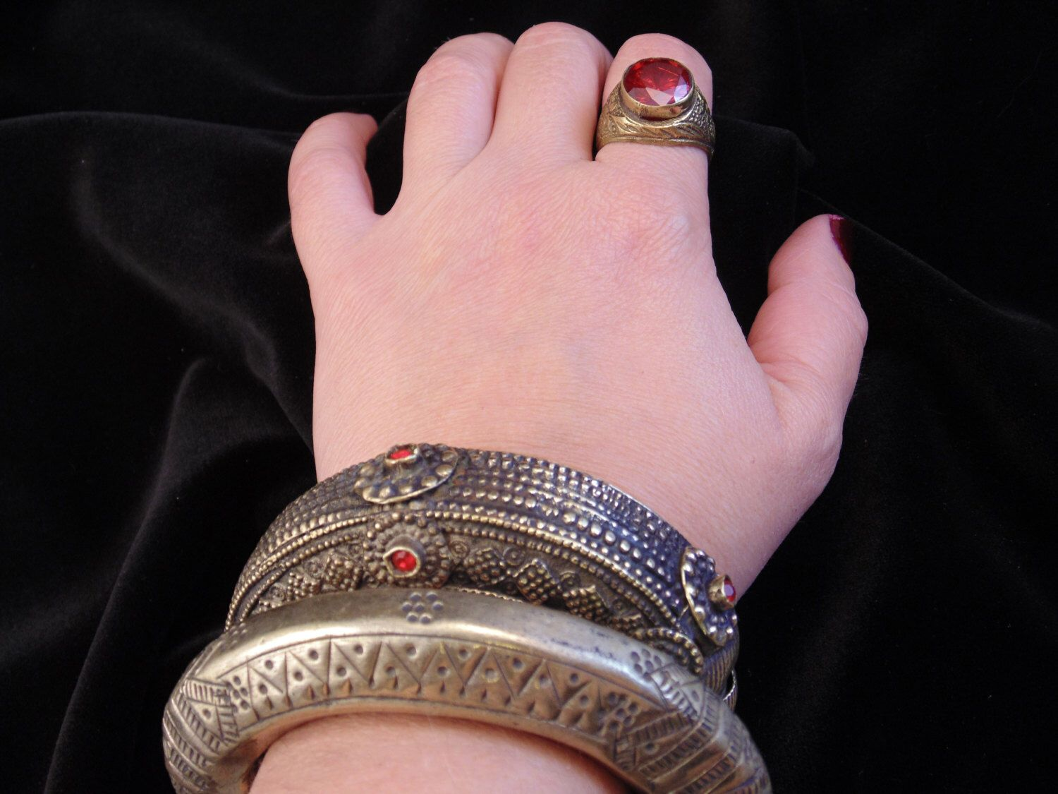 3655 - Vintage Kuchi Tribal Bangle Bracelet - Afghani Ethnic ...