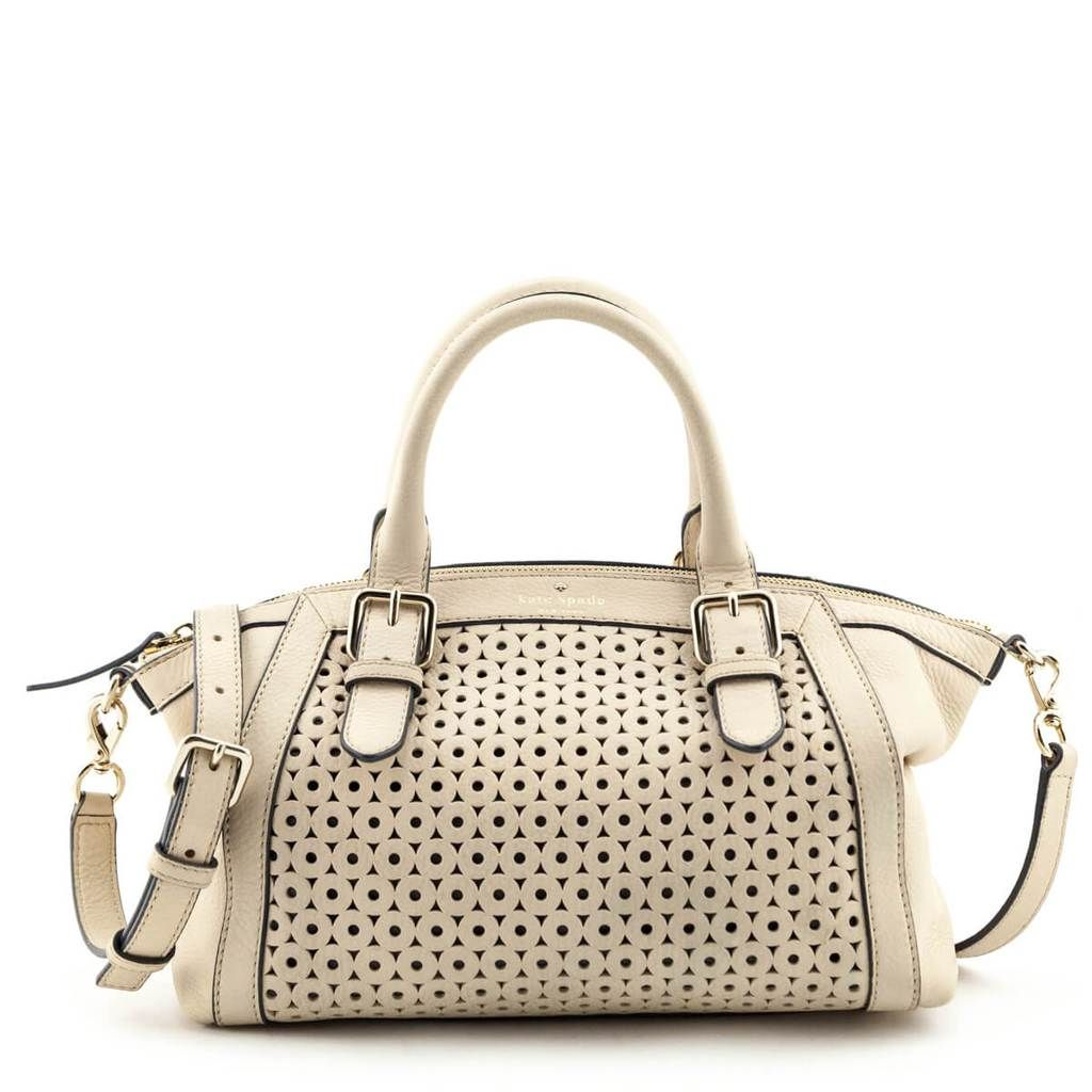 Kate Spade Ostrich Egg Perforated Leather Mercer Isle